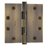 Baldwin 1046.I 4.5 Inch x 4.5 Inch Solid Brass Ball Bearing Full Mortise Hinge with Square Corners