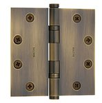 Baldwin 1046.INRP Estate 4.5 Inch x 4.5 Inch Solid Brass Ball Bearing Non-Removable Pin Full Mortise Hinge with Square Corners (Sold Each)