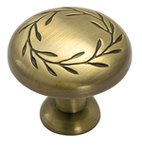 "Amerock BP1581EB Elegant Brass 1 1/4"" Knob from the Inspirations Collection product"