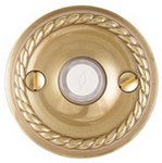 Emtek 2401 Brass Doorbell Button with Rope Rosette