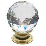 Baldwin 4334S 1-1/5 Inch Diameter Swarovski Crystal Cabinet Knob