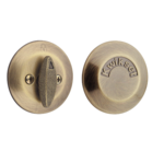 Kwikset 667 One-Sided Deadbolt with Exterior Plate