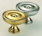Omnia 9136/30 1-3/16 Inch Diameter Solid Brass Knob