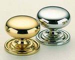 Omnia 9158/25 1 Inch Diameter Solid Brass Knob