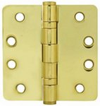 Emtek 94024 4 Inch x 4 Inch Heavy Duty Ball Bearing Steel Plated Hinge with 1/4 Inch Radius Corners (Sold in Pairs) product