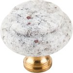 Top Knobs M130 Kashmire White Granite 1 3/8