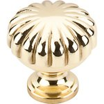 """Top Knobs M320 Melon Knob 1 1/4"""" - Polished Brass  from the Somerset II Collection"""