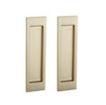 Baldwin PD005.FD Large Santa Monica Dummy Pocket Door Set